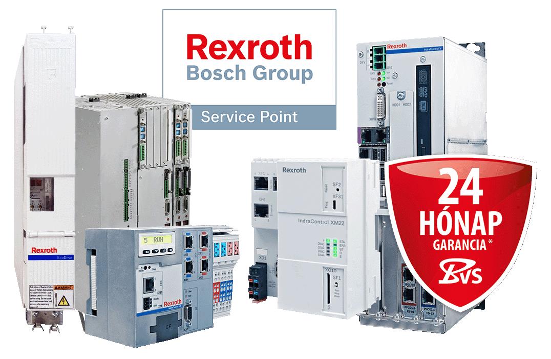 Bosch Rexroth/Indramat - javítás, felújított és új alkatrészek, pótalkatrész, szolgáltat
