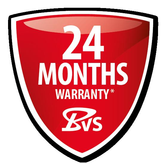 24-month warranty*